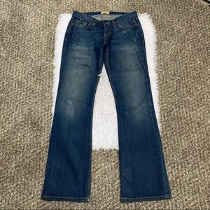 BKE Buckle Star 18 Bootcut Distressed Jeans SZ 25